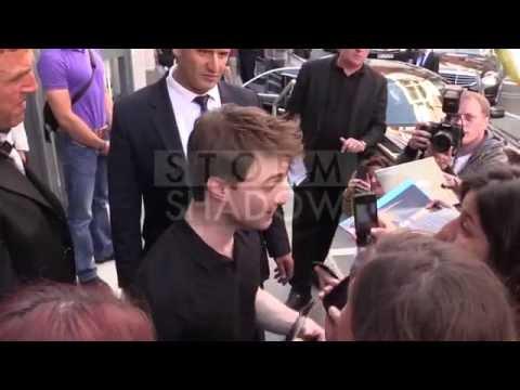 Daniel Radcliffe promotion of Horns at NRJ radio station in Paris