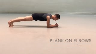 Plank on Elbows and progressions
