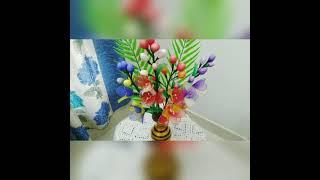 Nylon stocking flower  shorts craftideas flowermaking nylonstockingflower