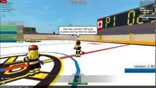 Roblox NHL hockey 360 goal