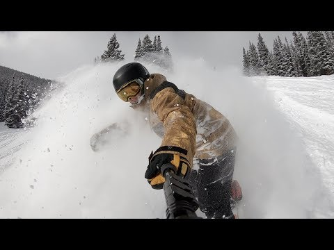 Snowboarding Powder Off Peak 10 At Breckenridge Colorado - (Season 3, Day 70)