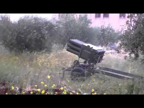 Syrian Rebels Fire RAK 12 MRLS