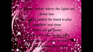 George Strait- She Lays It All On The Line Lyrics