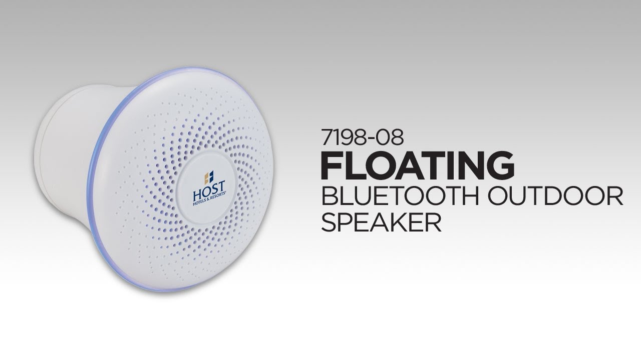 7198 08 Floating Outdoor Bluetooth Speaker Youtube