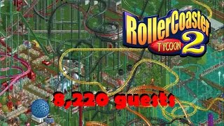 Biggest Rollercoaster Tycoon Park - 8,220 Guests (RCT2 Largest Possible)