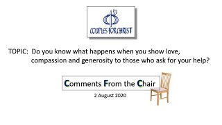 COMMENTS FROM THE CHAIR with Bro Bong Arjonillo - 2 August 2020
