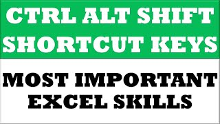 Ctrl, Alt, Shift Key and Other Keys Shortcut with Example in MS Excel 2016 | Excel Basics Video