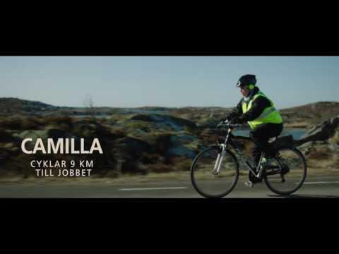 Vintercyklister i västsverige