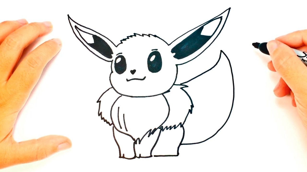 how to draw eevee pokemon eevee easy draw tutorial youtube