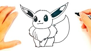 How to draw Eevee Pokemon | Eevee Easy Draw Tutorial