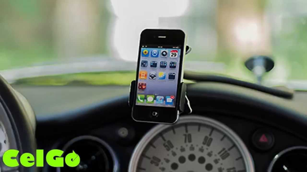 Celgo car cell phone holder mount kickstarter campaign video youtube