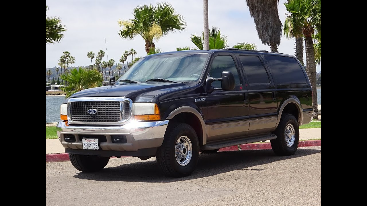 2000 FORD EXCURSION LIMITED 4X4 7.3L POWERSTROKE DIESEL BLACK ON GRAY FOR SALE