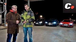 Audi R8 Laser Light vs A7 Matrix LED vs A1 Halógeno   Prueba Comparativa / Review   Coches.net