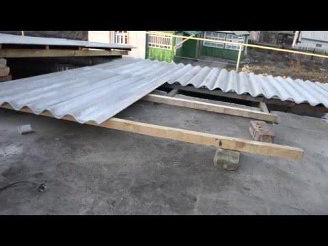 Как укладывать шифер на крышу видео