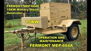 FERMONT MEP-804A 15KW Military Diesel Generator - Operating and Maintaining