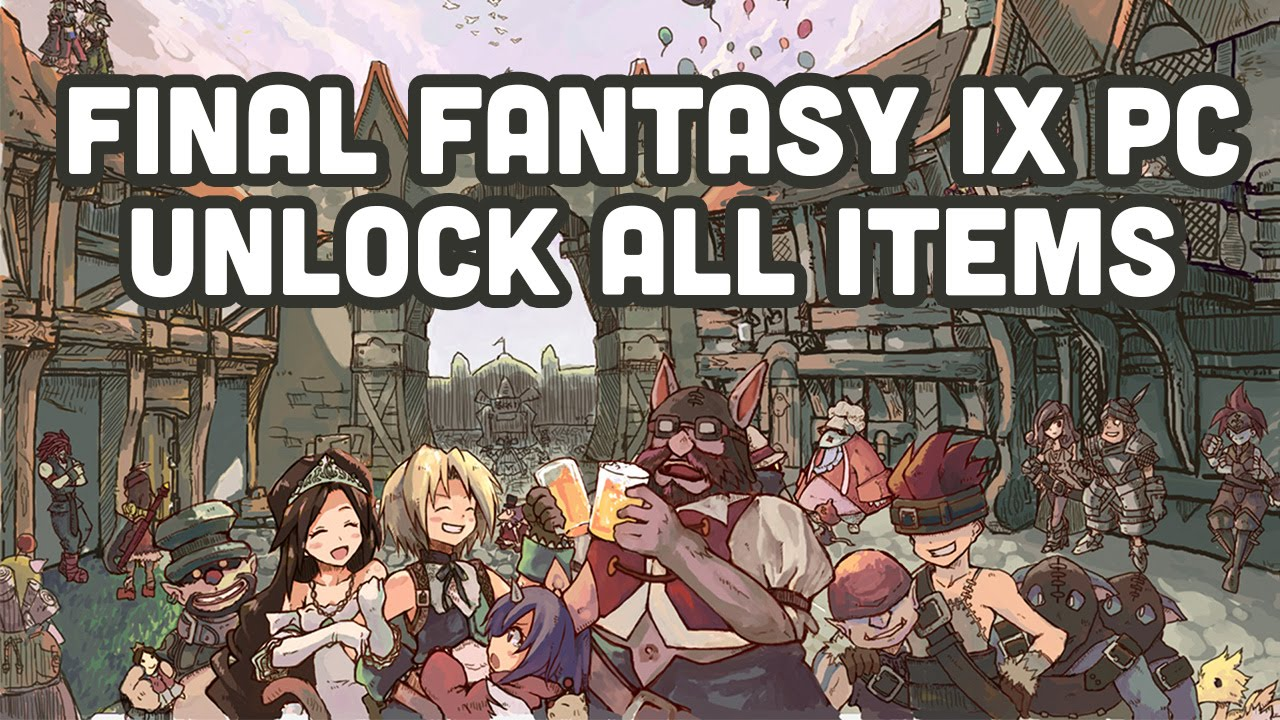 Final Fantasy IX Steam | PC - Unlock All Items (Cheat Engine)