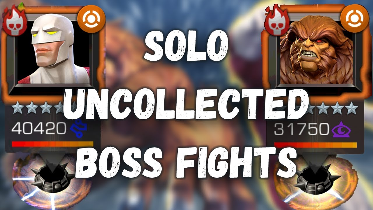 Sasquatch & Guardian Solo Boss Fights - Marvel Contest of Champions