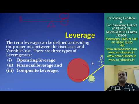 Leverage. Financial Management