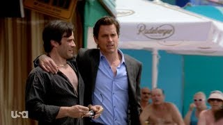 WHITE COLLAR: Fake russian drunk helps Neal Caffrey get out of a jam.