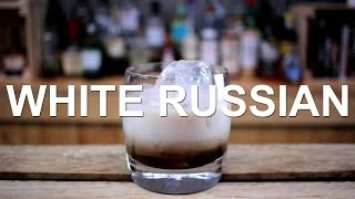 White Russian Cocktail Recipe - ALCOHOLIC ICED COFFEE!