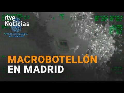 DETENIDOS 55 jóvenes en ALTERCADOS y ROBOS en un BOTELLÓN en el PARQUE del OESTE de MADRID I RTVE
