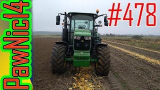Talerzowanie pola po zbiorze pestki dyni John Deere & Agro-Lift - Życie zwyczajnego rolnika #478