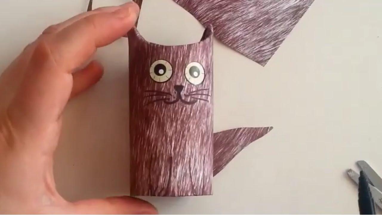 Tuvalet Kağıdı Rulosundan Köpek Yapımı