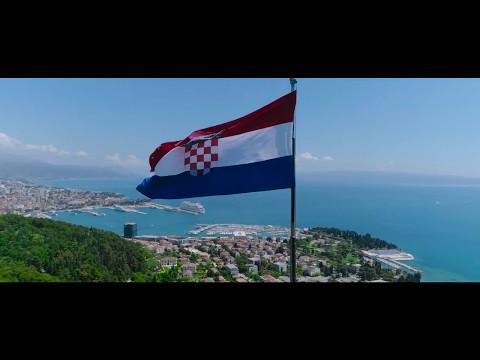 Split, Croatia. Aerial HD video.