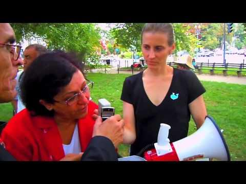 Sakineh Ashtiani's son Sajjad calls Washington DC protest direct from Iran