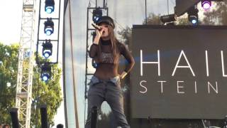 "Hailee Steinfeld Covers Justin Bieber's ""Love Yourself"" at L.A. Pride Festival"