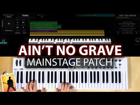 Ain't No Grave MainStage patch keyboard cover and tutorial- Bethel Music thumbnail