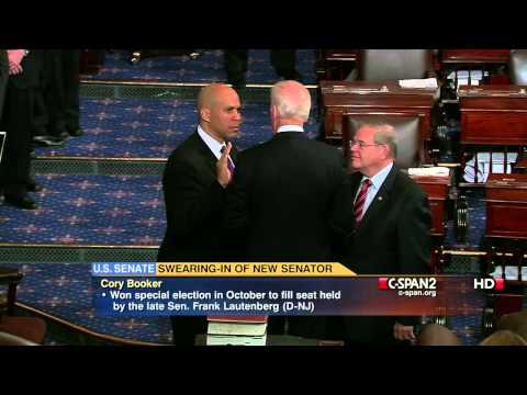 Cory Booker Sworn into U.S. Senate (C-SPAN)