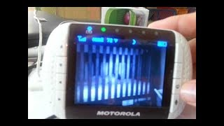 "Motorola Digital 3.5"" Video Baby Monitor (REVIEW & HOW TO USE) - COLOR LCD SCREEN MBP36S & MBP36"