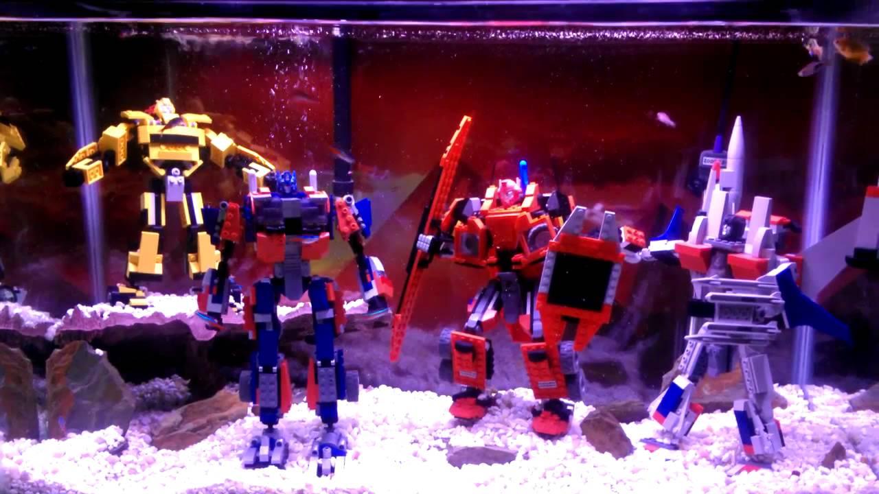 Fun Fish Tank Decorations Transformers Fish Tank Youtube