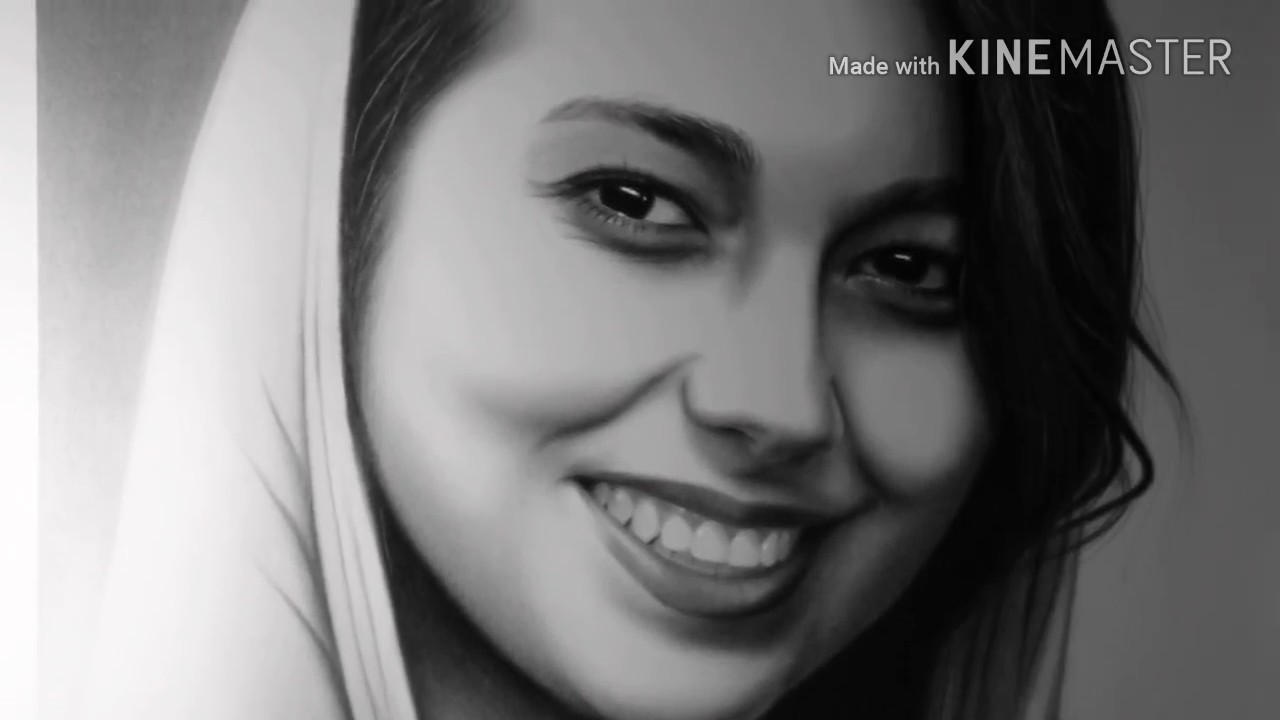 Charcoal Realistic Drawing رسم واقعي بالفحم Youtube