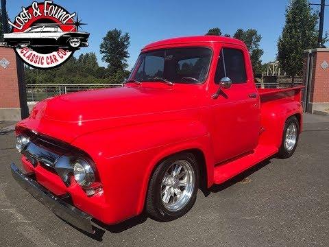 1954 ford f100 pickup truck for sale youtube. Black Bedroom Furniture Sets. Home Design Ideas