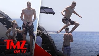 Kristaps Porzingis On A Yacht With A Super Hot Chick! | TMZ TV