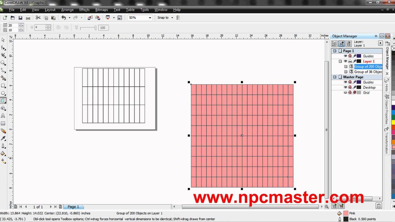 Coreldraw x4 windows 10 - 28 Using The Graph Paper Tool In Coreldraw X4 Sinhala Hd
