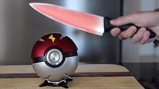 Real Life PokeBall VS 1000 Degree KNIFE