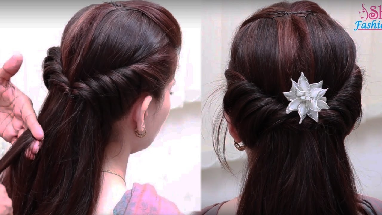 Easy Hair Style For Long Hair Ladies Hair Style Videos - Hairstyle design dikhaye