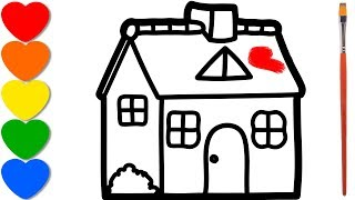 House painting and drawing for kids, learn colors ...