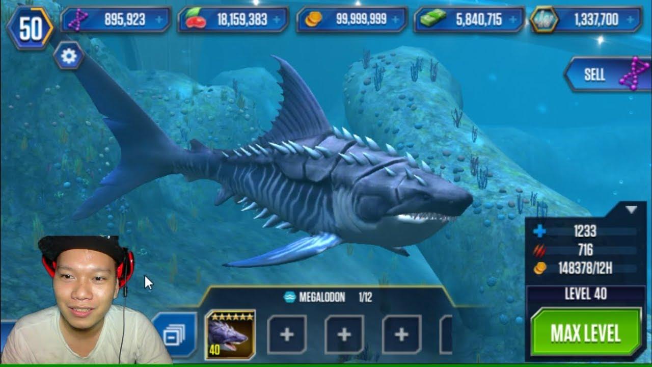 Jurassic World The Game cá mập Megalodon HNT chơi game nuôi khủng long 1080 HNT Channel New 35