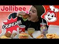 Trying Jollibee Filipino Food For The First Time(Mukbang)