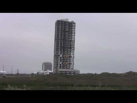 HD - Ocean Towers,  South Padre Island -  31 story building Implosion