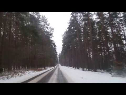 Winter ride to the woods in Poland