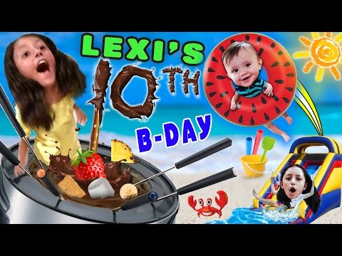 Thumbnail: Lexi's 10th Birthday Party! FONDUE POOL CELEBRATION (FUNnel Vision Vlog w/ Presents Haul)