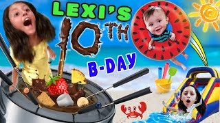 Lexi's 10th Birthday Party! FONDUE POOL CELEBRATION (FUNnel Vision Vlog w/ Presents Haul) thumbnail