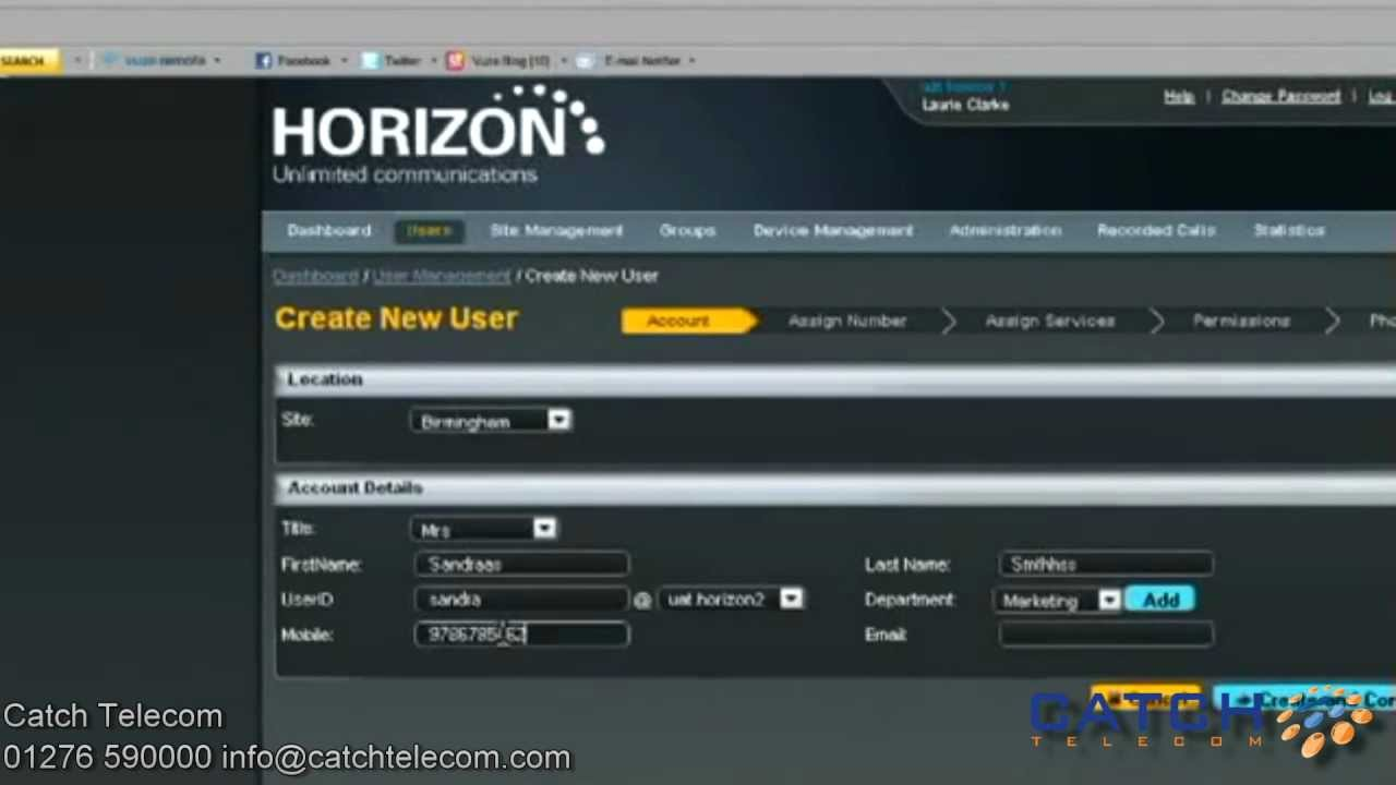Horizon Hosted VoIP User Guide - Catch Telecom