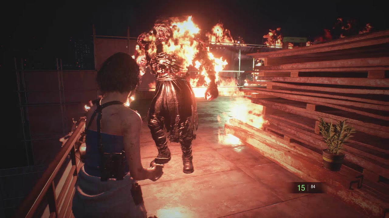 Resident Evil 3 Remake Flamethrower Nemesis Handgun Only No
