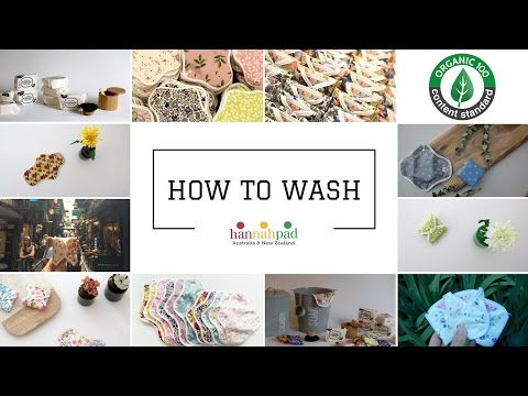 How To Clean & Wash hannahpad | Certified Organic Clothpads